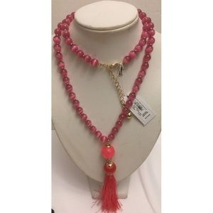 098686648357 Pink Multi Swing Of Thing Necklace